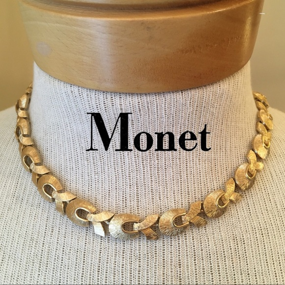 f588277105d04b Vintage Jewelry | Goldtone Textured Monet Necklace Adjustabl | Poshmark